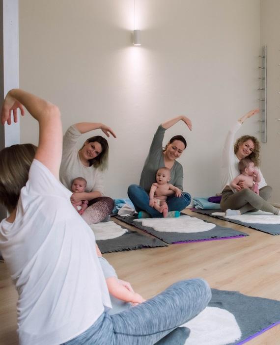 Praktijk Viva La vida - impressie yoga groep portrait